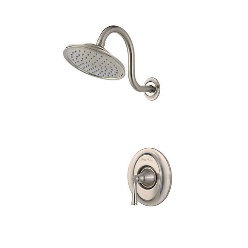 Price Pfister Saxton 1-Handle Shower Faucet Trim Kit in Brushed Nickel (Valve Not Included) 460979