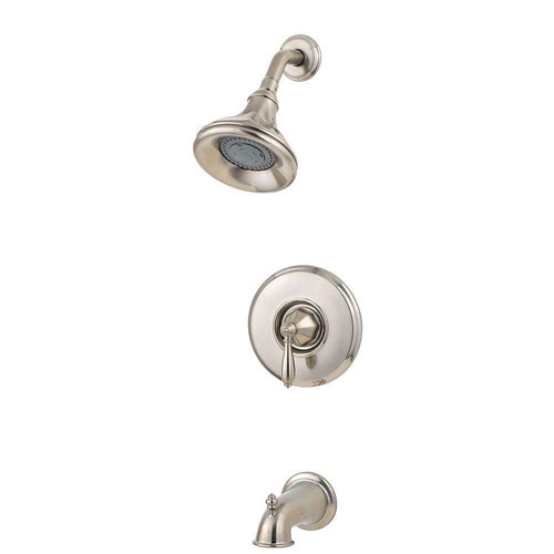 Price Pfister Portola 1-Handle Tub and Shower Faucet Trim Kit in Brushed Nickel (Valve Not Included) 461046