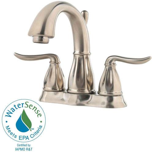 Price Pfister Sedona 4 inch Centerset 2-Handle Bathroom Faucet in Brushed Nickel 473283