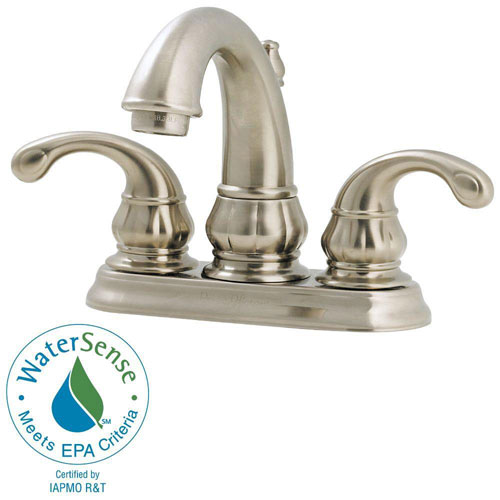 Price Pfister Treviso 4 inch Centerset 2-Handle Bathroom Faucet in Brushed Nickel 475656