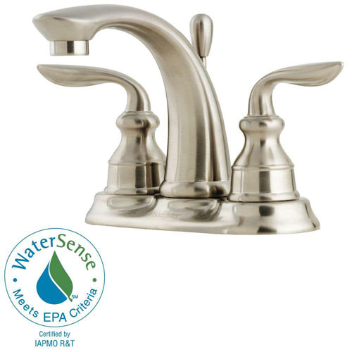 Price Pfister Avalon 4 inch Centerset 2-Handle Bathroom Faucet in Brushed Nickel 475661