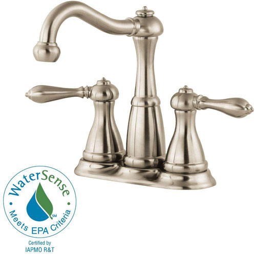 Price Pfister Marielle 4 inch Centerset 2-Handle Bathroom Faucet in Brushed Nickel 475664