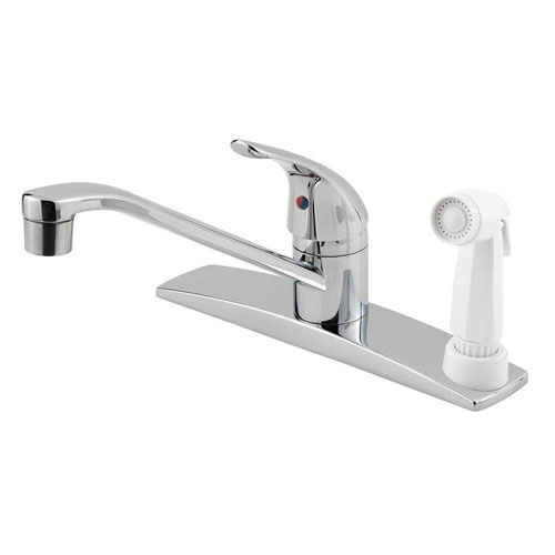 Price Pfister Pfirst Series Single-Handle Side Sprayer Kitchen Faucet in Polished Chrome 475716