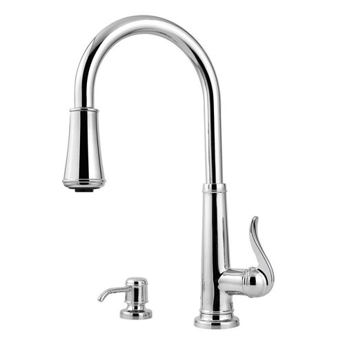 Price Pfister Ashfield Single-Handle Pull-Down Sprayer Kitchen Faucet in Polished Chrome 475746