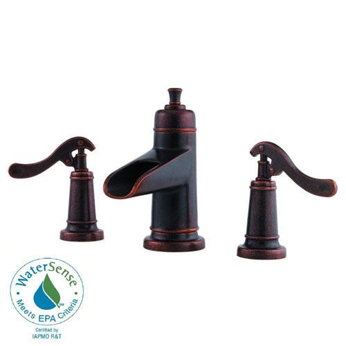 Price Pfister Ashfield 8 inch Widespread 2-Handle Bathroom Faucet in Rustic Bronze 475799