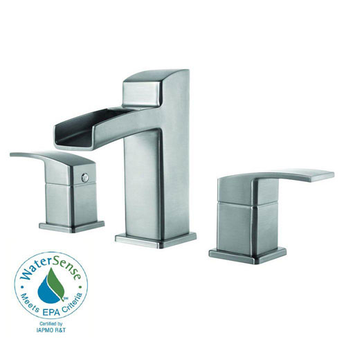 Price Pfister Kenzo 8 inch Widespread 2-Handle Bathroom Faucet in Brushed Nickel 475813