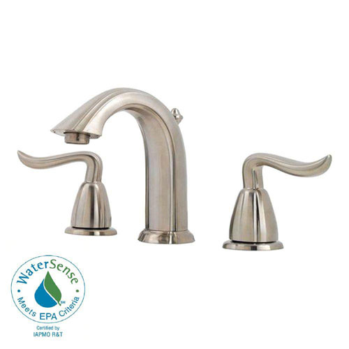 Price Pfister Santiago 8 inch Widespread 2-Handle Bathroom Faucet in Brushed Nickel 475818