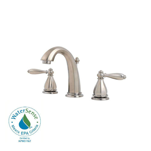 Price Pfister Portola 8 inch Widespread 2-Handle Bathroom Faucet in Brushed Nickel 475822