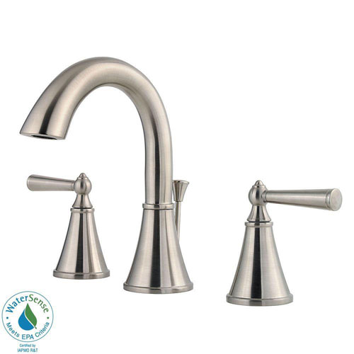 Price Pfister Saxton 8 inch Widespread 2-Handle Bathroom Faucet in Brushed Nickel 475826