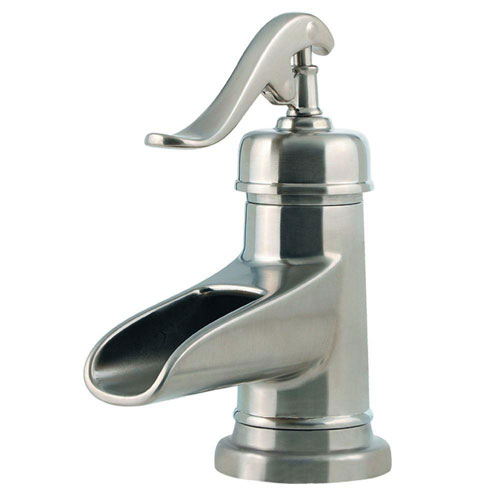 Price Pfister Ashfield Single Control 4 inch Centerset 1-Handle Bathroom Faucet in Brushed Nickel 475832