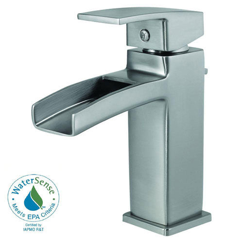 Price Pfister Kenzo 4 inch Centerset 1-Handle Bathroom Faucet in Brushed Nickel 475838