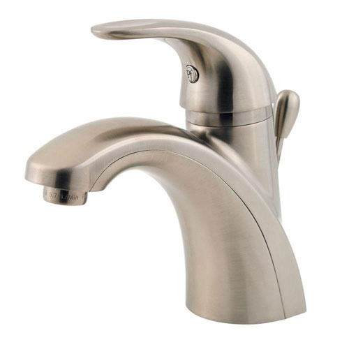 Price Pfister Parisa 4 inch Centerset 1-Handle Bathroom Faucet in Brushed Nickel 475840