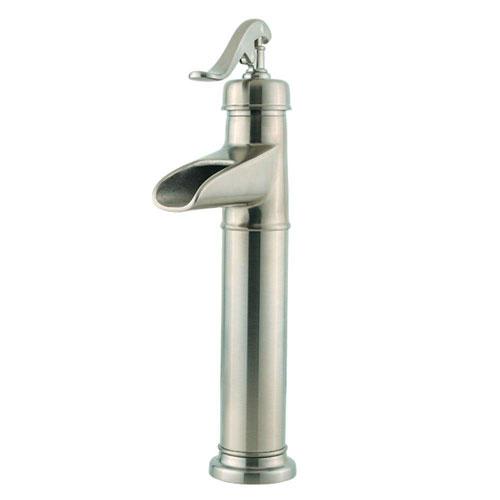Price Pfister Ashfield Single Hole 1-Handle Vessel Bathroom Faucet in Brushed Nickel 475847