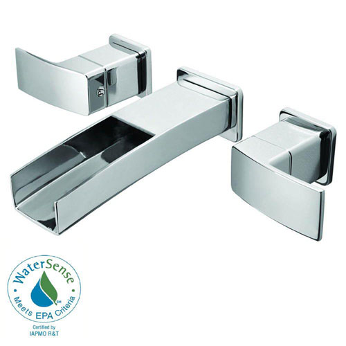 Price Pfister Kenzo Wall Mount 2-Handle Bathroom Faucet in Polished Chrome 475856