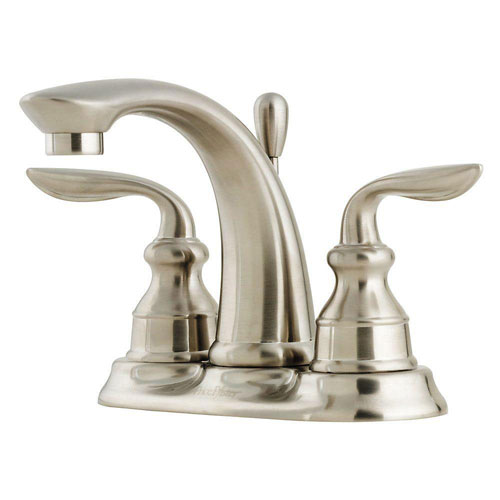 Price Pfister Avalon 4 inch Centerset 2-Handle Bathroom Faucet in Brushed Nickel 475892
