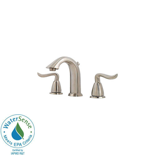 Price Pfister Santiago 8 inch Widespread 2-Handle Bathroom Faucet in Brushed Nickel 477927