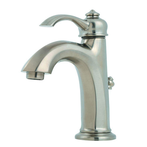 Price Pfister Portola Single Control 4 inch Centerset 1-Handle Bathroom Faucet in Brushed Nickel 490479