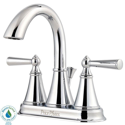 Price Pfister Saxton 4 inch Centerset 2-Handle Bathroom Faucet in Polished Chrome 490481