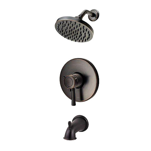 Price Pfister 1-Handle Tub and Shower Faucet Trim Kit in Tuscan Bronze (Valve Not Included) 518978