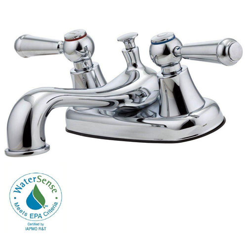 Price Pfister Pfirst Series 4 inch Centerset 2-Handle Bathroom Faucet in Polished Chrome 519615