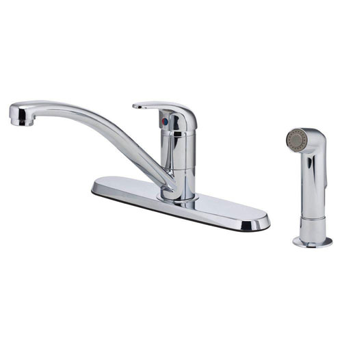 Price Pfister Pfirst Series Single-Handle Side Sprayer Kitchen Faucet in Polished Chrome 519623