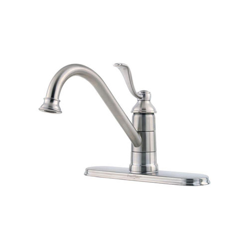 Price Pfister Stainless Steel Finish Portland Single-Handle Kitchen Faucet 519860
