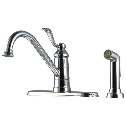 Price Pfister Portland Single-Handle Side Sprayer Kitchen Faucet in Polished Chrome 519862