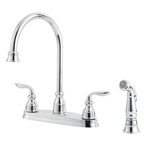 Price Pfister Avalon 2-Handle Kitchen Faucet in Polished Chrome 519868