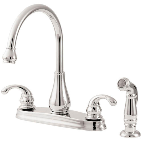 Pfister GT36-4DCC Treviso 2-Handle Kitchen Faucet with Side Spray, Chrome 519871
