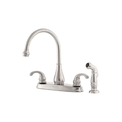 Pfister GT36-4DSS Treviso 2-Handle Kitchen Faucet with Side Spray, Stainless Steel 519872