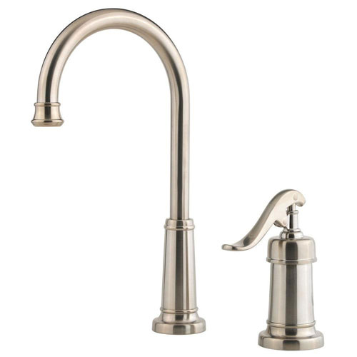 Price Pfister Ashfield Single-Handle Bar Faucet in Brushed Nickel 519878