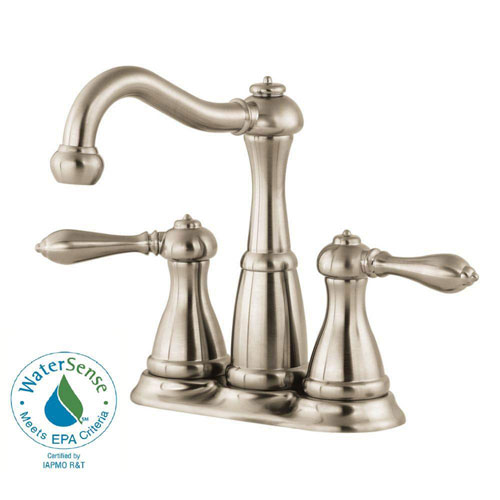 Price Pfister Marielle 4 inch Centerset 2-Handle Bathroom Faucet in Brushed Nickel 519884