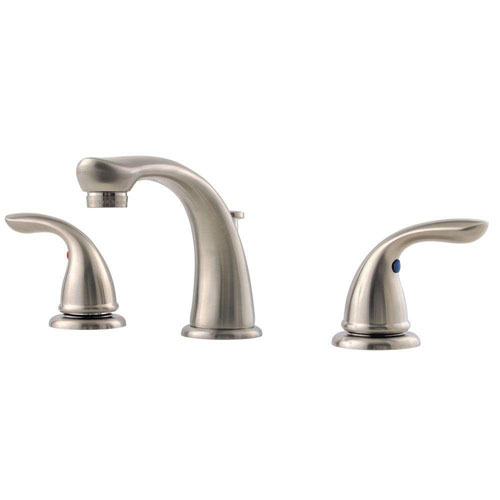 Price Pfister Pfirst Series 8 inch Widespread 2-Handle Bathroom Faucet in Brushed Nickel 534691