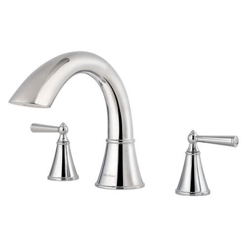 Price Pfister Saxton 2-Handle Deck Mount Roman Tub Faucet Trim Kit in Polished Chrome (Valve Not Included) 534722