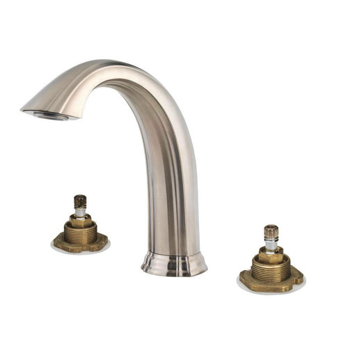 Price Pfister Santiago 2-Handle High-Arc Deck Mount Roman Tub Faucet Trim Kit in Brushed Nickel (Valve Not Included) 534734