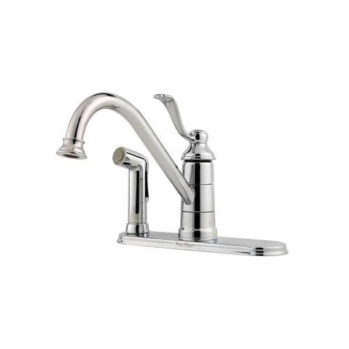 Price Pfister Polished Chrome Portland Single-Handle Kitchen Faucet 544534