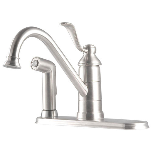 Price Pfister Stainless Steel Finish Portland Single-Handle Kitchen Faucet 544535