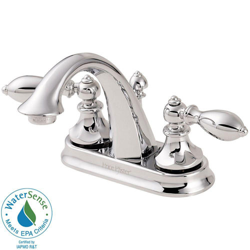 Price Pfister Catalina 4 inch Centerset 2-Handle Bathroom Faucet in Polished Chrome 544538