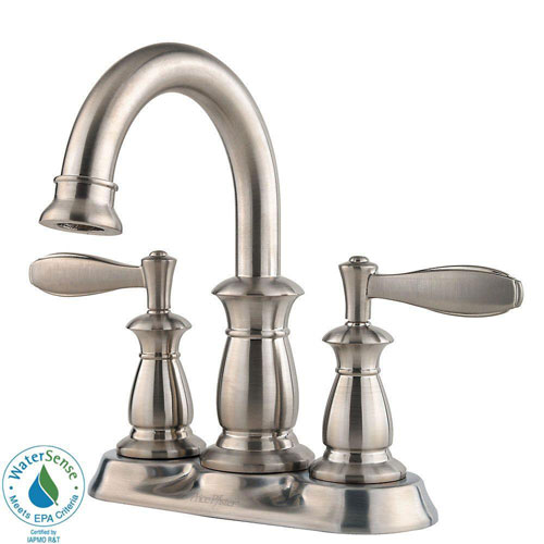 Price Pfister Langston 4 inch Centerset 2-Handle Bathroom Faucet in Brushed Nickel 560943