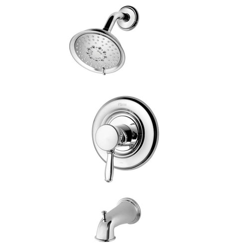 Price Pfister Universal 1-Handle Tub and Shower Faucet Trim Kit in Polished Chrome (Valve Not Included) 584382