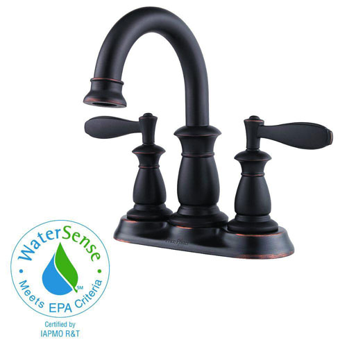 Price Pfister Langston 4 inch Centerset 2-Handle Bathroom Faucet in Tuscan Bronze 589876