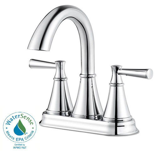 Price Pfister Cantara 4 inch Centerset 2-Handle Bathroom Faucet in Polished Chrome 609963
