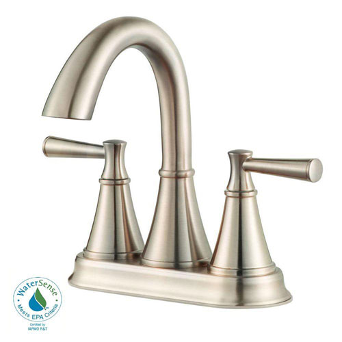 Price Pfister Cantara 4 inch Centerset 2-Handle Bathroom Faucet in Brushed Nickel 609964