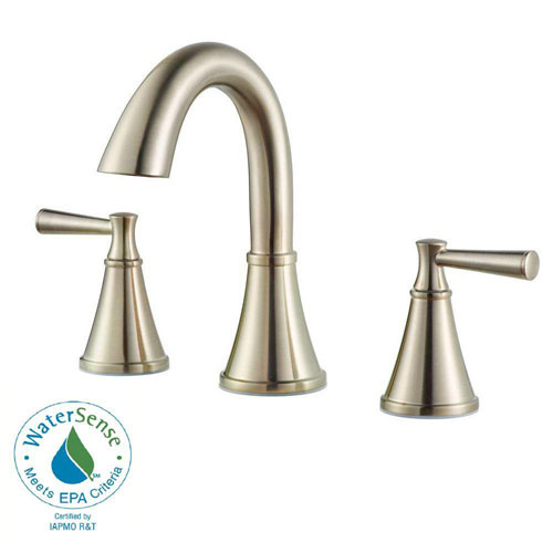Price Pfister Cantara 8 inch Widespread 2-Handle High Arc Bathroom Faucet in Brushed Nickel 609968
