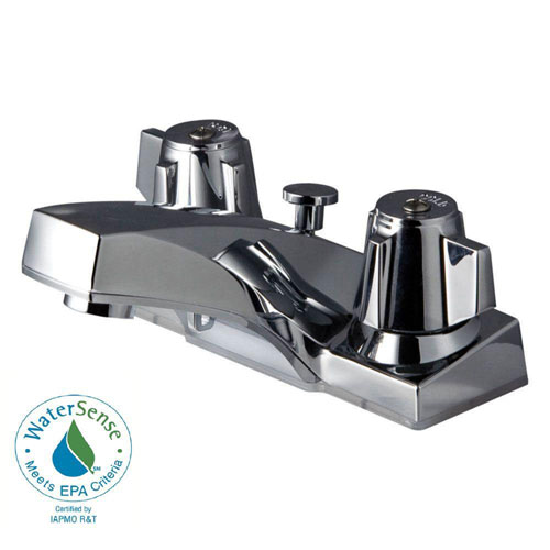 Price Pfister Pfirst Series 4 inch Centerset 2-Handle Bathroom Faucet in Polished Chrome 640339