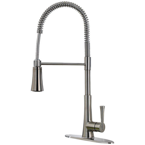 Price Pfister Zuri Single-Handle Pull-Down Sprayer Kitchen Faucet in Stainless Steel 642767