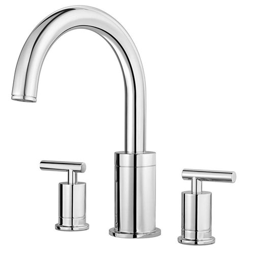 Price Pfister Contempra 2-Handle High-Arc Deck Mount Roman Tub Faucet Trim Kit in Polished Chrome (Valve Not Included) 674012
