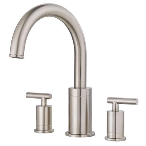 Price Pfister Contempra 2-Handle High-Arc Deck Mount Roman Tub Faucet Trim Kit in Brushed Nickel (Valve Not Included) 674013
