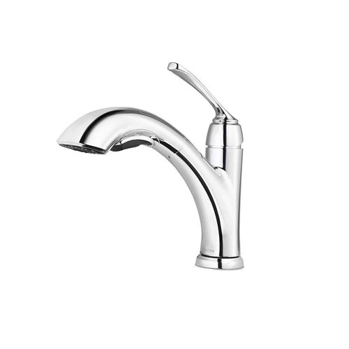 Price Pfister Cantara Single-Handle Pull-Out Sprayer Kitchen Faucet in Polished Chrome 675167
