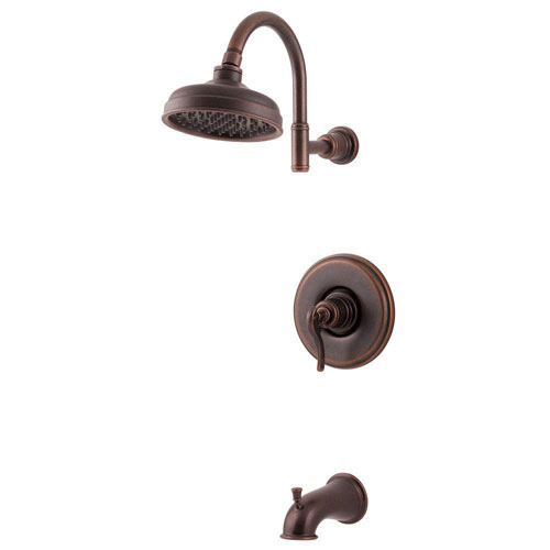 Price Pfister Ashfield 1-Handle Tub and Shower Faucet Trim Kit in Rustic Bronze (Valve Not Included) 763576